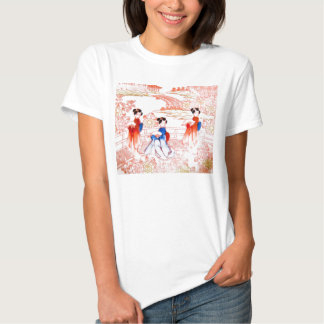Geishas in garden shirt