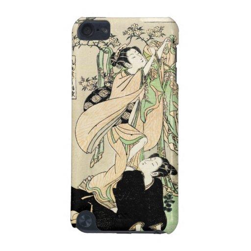 Geishas japoneses frescos de la voluta dos del uki funda para iPod touch 5G