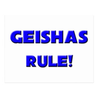 Geishas Rule! Postcard
