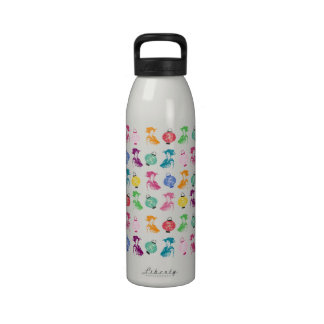 Geishas y linternas del estallido botellas de agua reutilizables