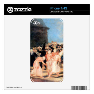 Geissler procession by Francisco de Goya iPhone 4S Skins