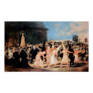 Geissler procession by Francisco de Goya Poster
