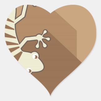 Gekko Art Heart Sticker