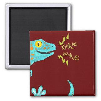 """Gekko gecko"" Cute Calling Tokay Gecko Magnet"
