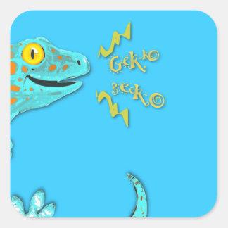 """Gekko Gecko"" Cute Calling Tokay Gecko Square Sticker"