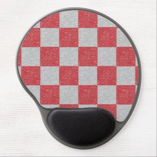 Gel a cuadros rojo y gris Mousepad Alfombrillas De Raton Con Gel