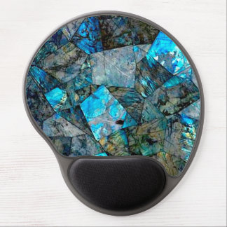 Gel abstracto Mousepad del arte de las gemas de la Alfombrilla Gel