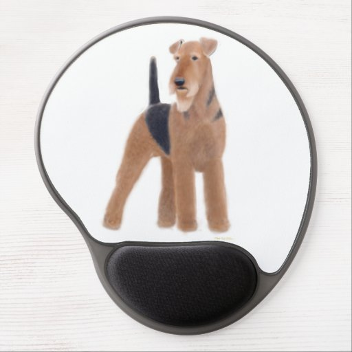 Gel alerta Mousepad de Airedale Terrier Alfombrilla De Raton Con Gel