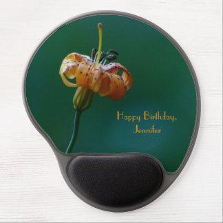 Gel amarillo Mousepad del feliz cumpleaños del lir Alfombrillas De Ratón Con Gel