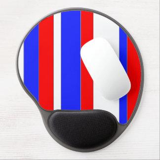 Gel azul blanco rojo Mousepad Alfombrilla Con Gel