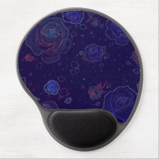 Gel azul del cojín de ratón de los rosas del alfombrilla gel