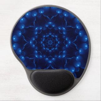 Gel azul eléctrico Mousepad de la mandala del Alfombrillas De Raton Con Gel