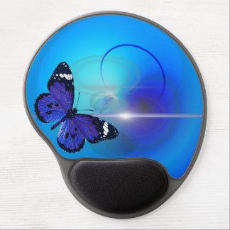 Gel azul Mousepad de la mariposa Alfombrilla De Raton Con Gel