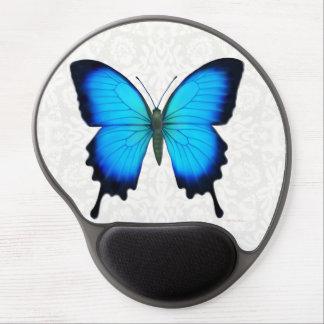 Gel azul Mousepad de la mariposa de Papilio Ulises Alfombrillas De Raton Con Gel
