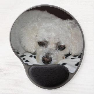 Gel blanco Mousepad del perro Alfombrilla De Raton Con Gel