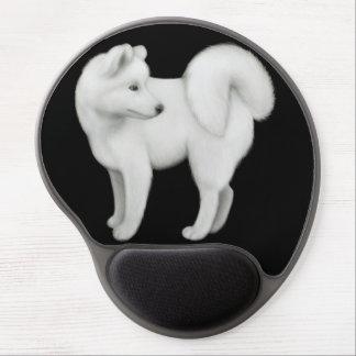 Gel blanco Mousepad del perro del samoyedo Alfombrillas De Ratón Con Gel