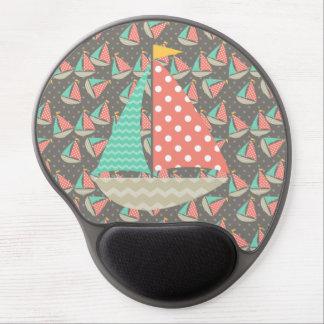 Gel caprichoso Mousepad de los veleros Alfombrillas De Raton Con Gel