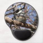 Gel capsulado negro Mousepad del Chickadee Alfombrillas Con Gel