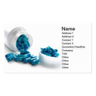 Gel capsule Double-Sided standard business cards (Pack of 100)
