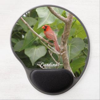 Gel cardinal rojo Mousepad del pájaro Alfombrilla De Raton Con Gel