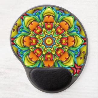 Gel colorido Mousepad del resplandor solar Alfombrilla De Ratón Con Gel