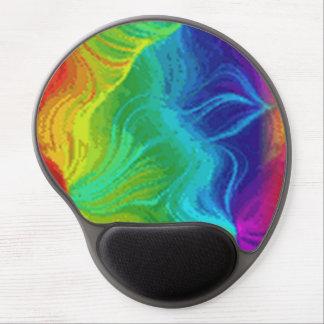 Gel crepuscular del cojín de ratón del arco iris alfombrilla de raton con gel
