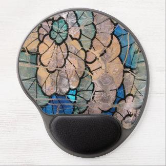 Gel de cristal azul del cojín de ratón alfombrillas de ratón con gel