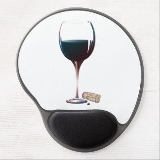Gel de cristal Mousepad del arte del vino rojo Alfombrilla Gel