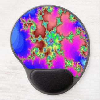 Gel de encargo del cojín de ratón del monograma alfombrilla de ratón con gel
