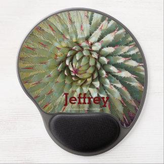 Gel de encargo verde y púrpura Mousepad de la foto Alfombrilla De Ratón Con Gel