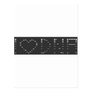 Gel de la DNA del corazón I Postales
