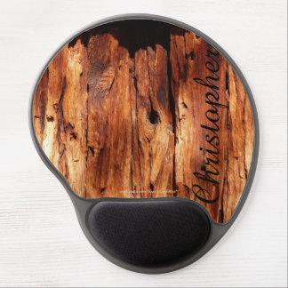 Gel de madera resistido Mousepad del apartadero, Alfombrillas Con Gel