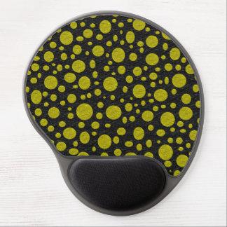 Gel de oro Mousepad de las burbujas Alfombrilla De Raton Con Gel