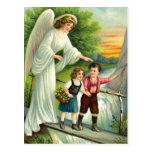 Gel, de protección, niños y puente, tarjeta postal