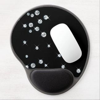 Gel dispersado Mousepad de los diamantes Alfombrilla De Raton Con Gel