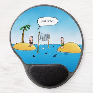 Gel divertido Mousepad del voleibol del tiburón Alfombrilla De Ratón Con Gel