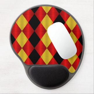 Gel doblado Mousepad, rojo del Harlequin del oro n Alfombrilla De Ratón Con Gel