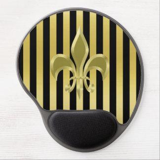Gel elegante Mousepad de la flor de lis del oro Alfombrilla Gel