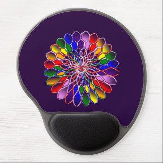 Gel ergonómico Mousepad de la florecilla del arco Alfombrillas De Ratón Con Gel