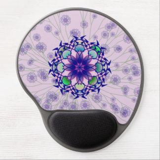 Gel ergonómico perenne violeta azul Mousepad Alfombrillas Con Gel