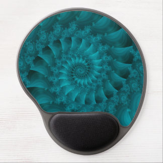 Gel espiral Mousepad del fractal de la turquesa Alfombrilla De Raton Con Gel