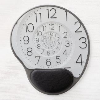 Gel espiral Mousepad del reloj de Droste del reloj Alfombrilla Gel