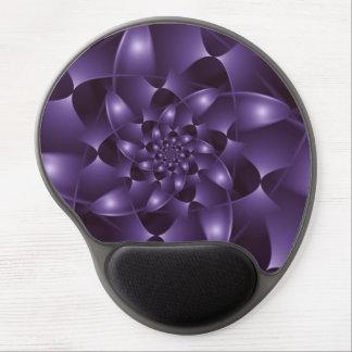 Gel espiral púrpura Mousepad del fractal Alfombrilla De Raton Con Gel
