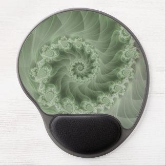 Gel espiral verde sedoso Mousepad del fractal Alfombrillas Con Gel