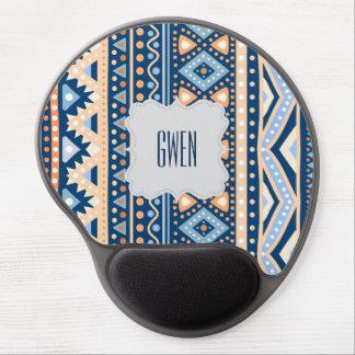 Gel étnico colorido azul tribal Mousepad del Alfombrillas Con Gel