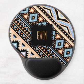 Gel étnico colorido NEGRO tribal Mousepad del Alfombrilla De Raton Con Gel