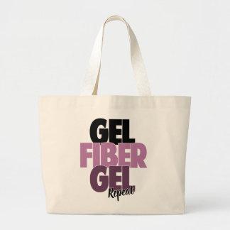 Gel, Fiber, Gel, Repeat - 3D Fiber Lashes Jumbo Tote Bag