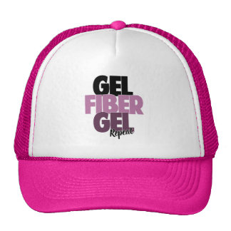 Gel, Fiber, Gel, Repeat - 3D Fiber Lashes Trucker Hat