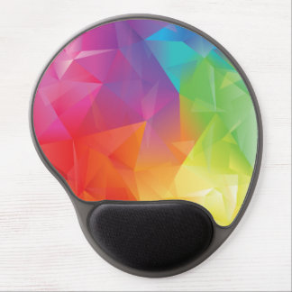 Gel geométrico abstracto Mousepad del arco iris Alfombrilla Gel