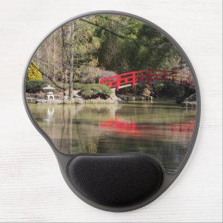 Gel japonés rojo Mousepad del puente Alfombrillas Con Gel